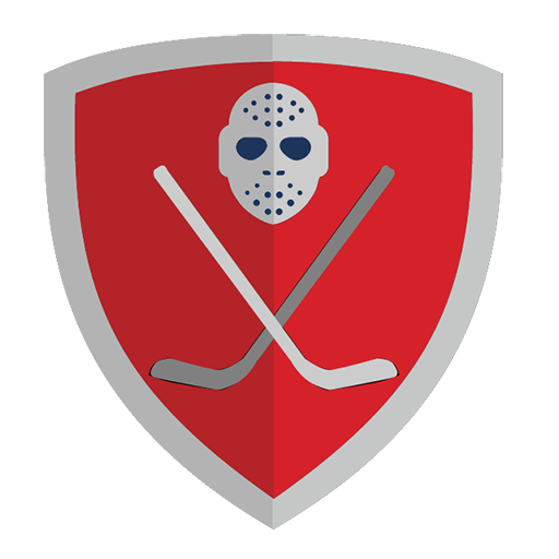 Vector image №11668 for design by keywords shield, hockey, club, red, puck