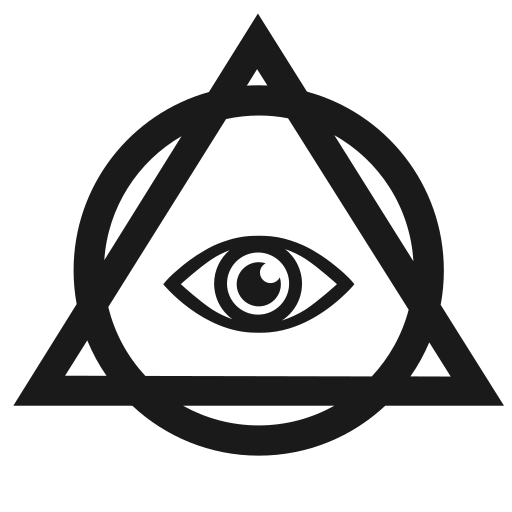 Vector image №14832 for design by keywords round, triangle, pyramid, eye, illuminati
