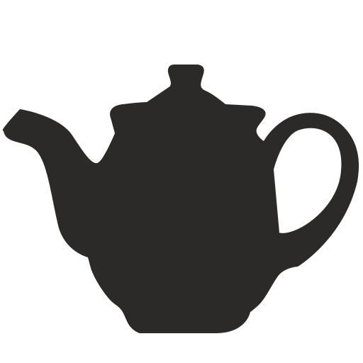 Vector image for logotype by keywords teapot, pot, dishes, classic