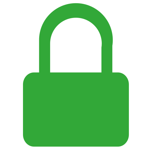 Vector image №16675 for design by keywords telegram, lock, safety, security, green