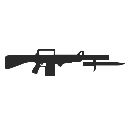 Vector image №12496 for design by keywords army, gun, automatic, weapon
