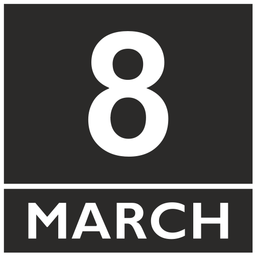 Vector image №16532 for design by keywords calendar, eight, march