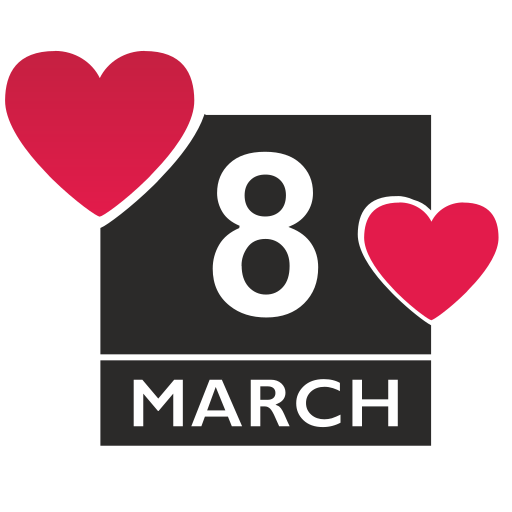 Vector image №16534 for design by keywords love, romantic, woman, day, 8, march, calendar