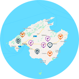 Group of objects for visualization on maps