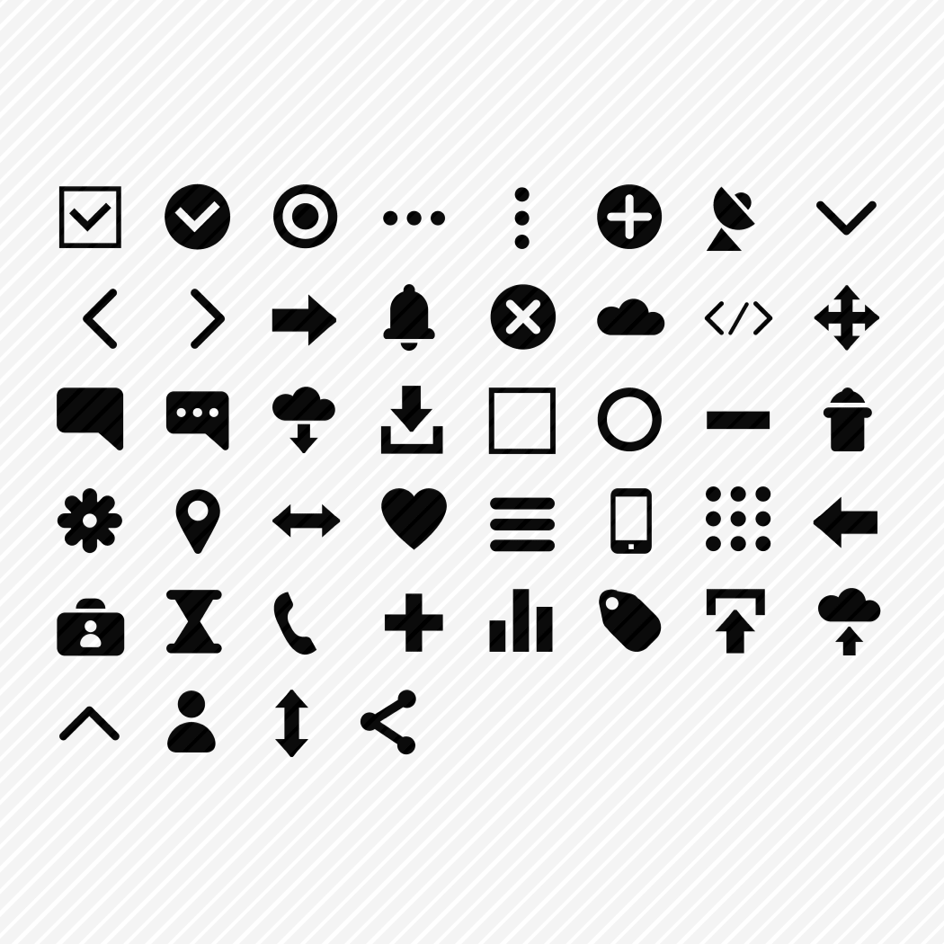 Iconset «Browser UI small size optimized set»