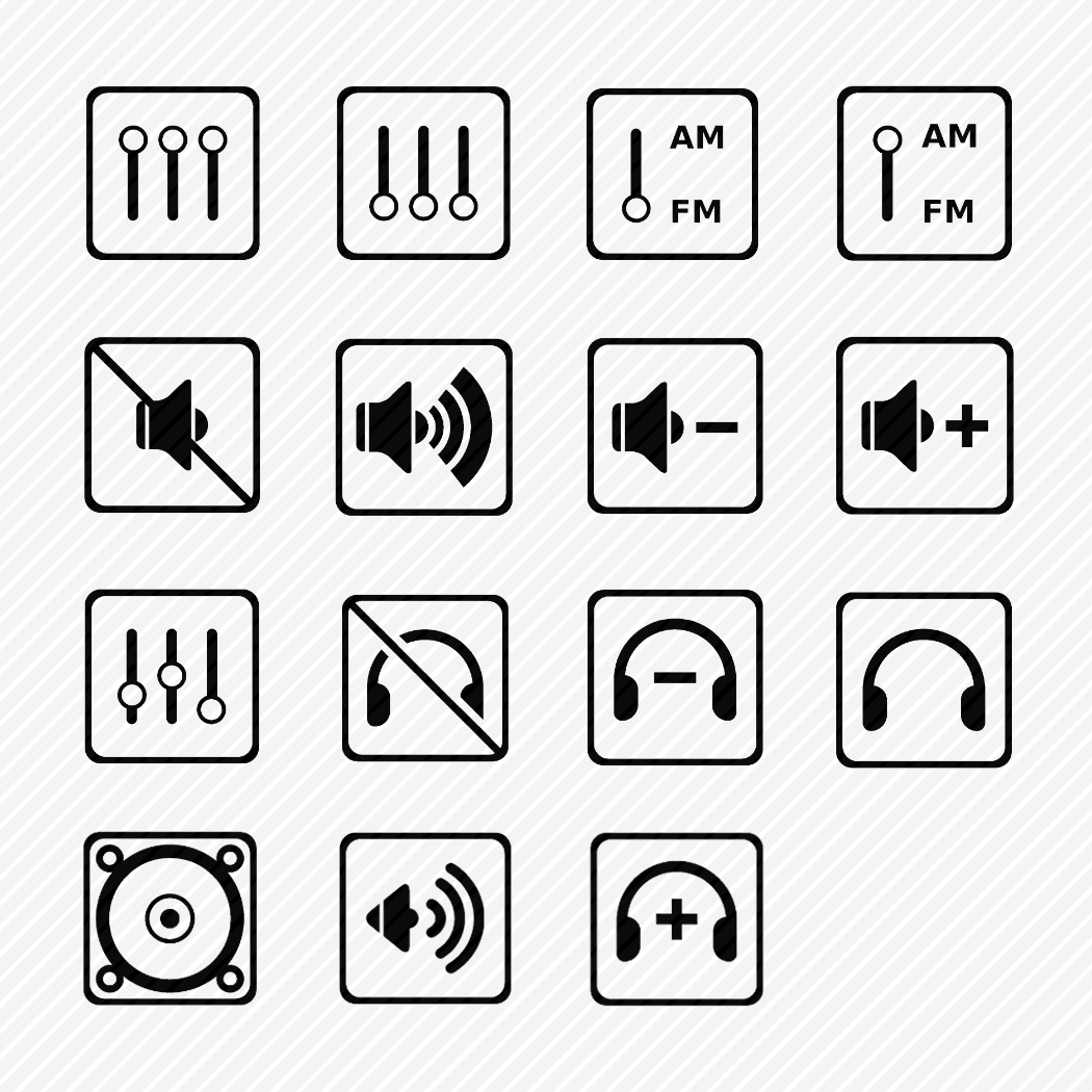Iconset «Car audio & UI»