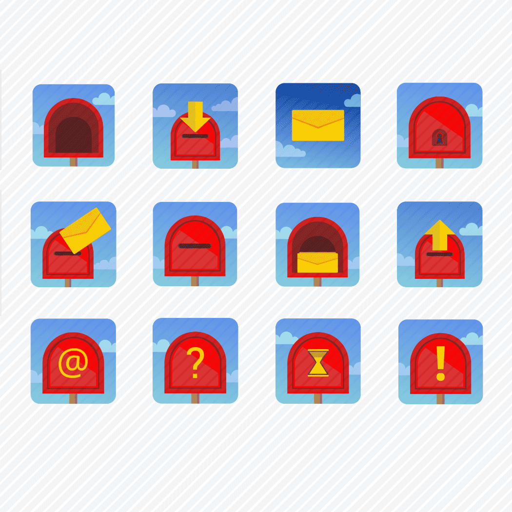 Iconset «Mailbox and letters»