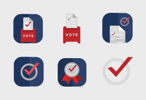 Choose iconset «Vote & elections» to buy the premium graphics